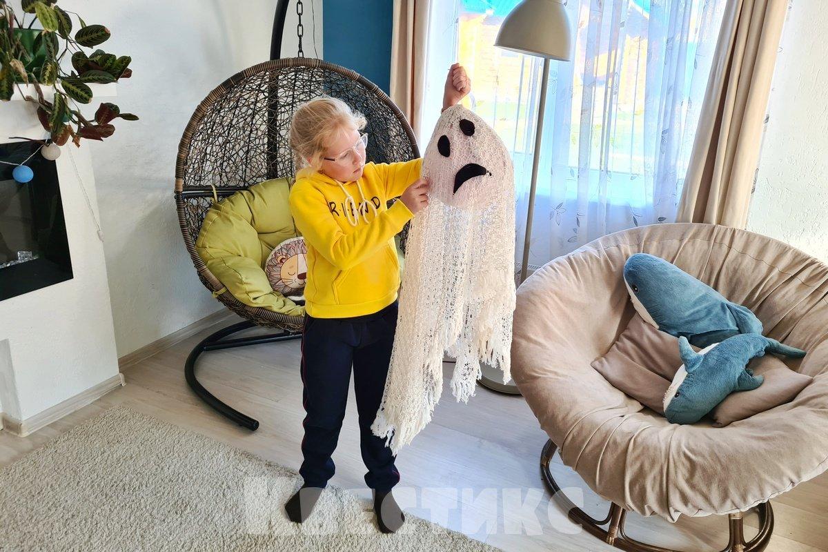 привидение на хэллоуин своими руками
