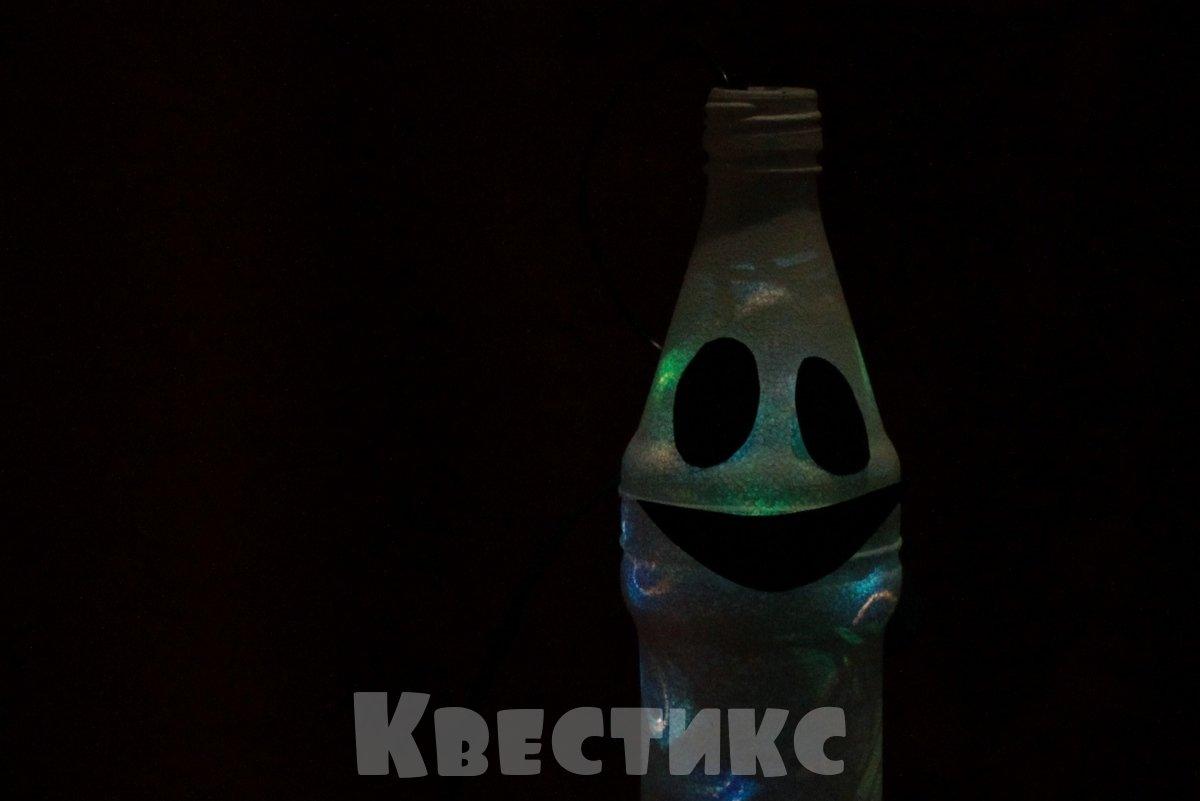 фонарь из бутылки