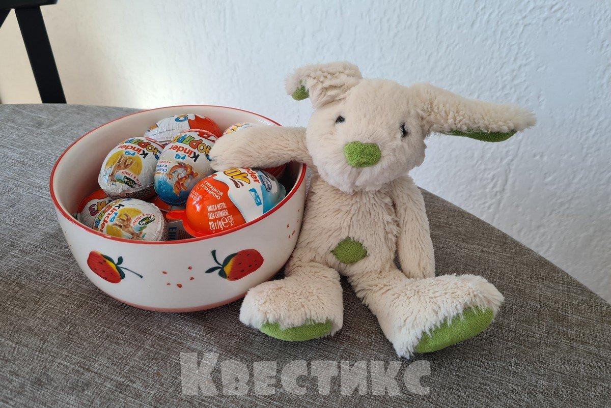 кролик спрятал яйца