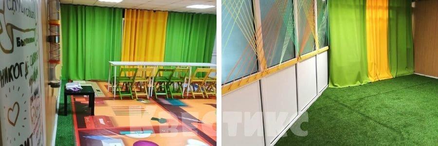 Чайная комната для детского праздника в центре гигантских настолок