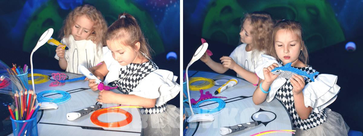 Мастер-класс по рисованию 3D ручкой на детском празднике
