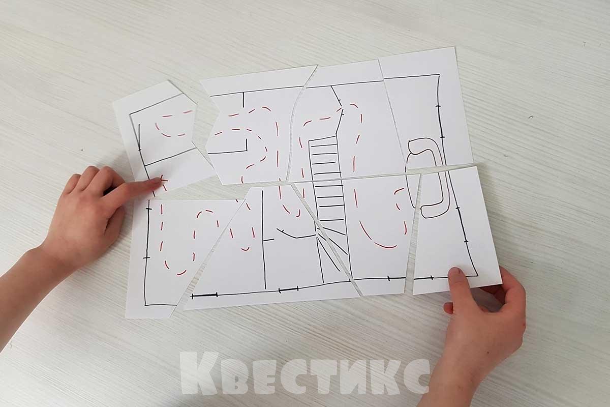 нарисованная карта для квеста дома