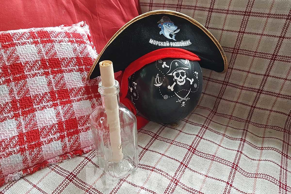 пиратская карта в бутылке