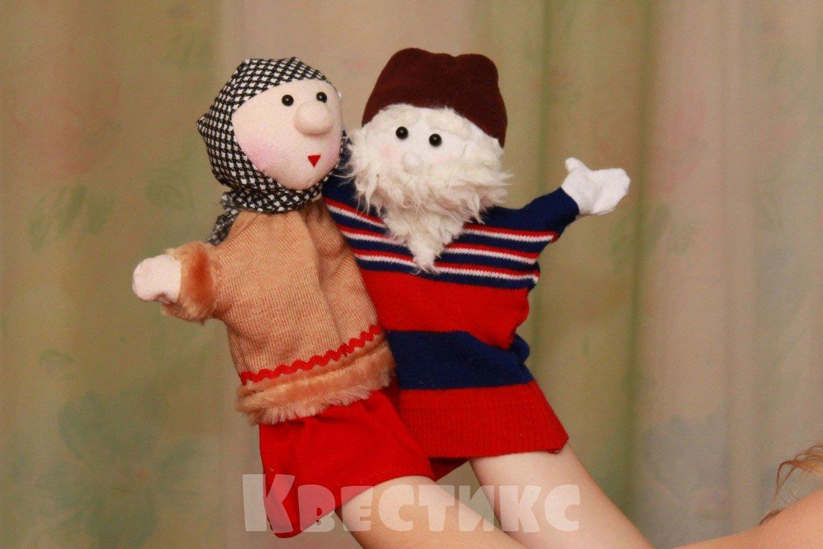 перчаточные куклы на руку