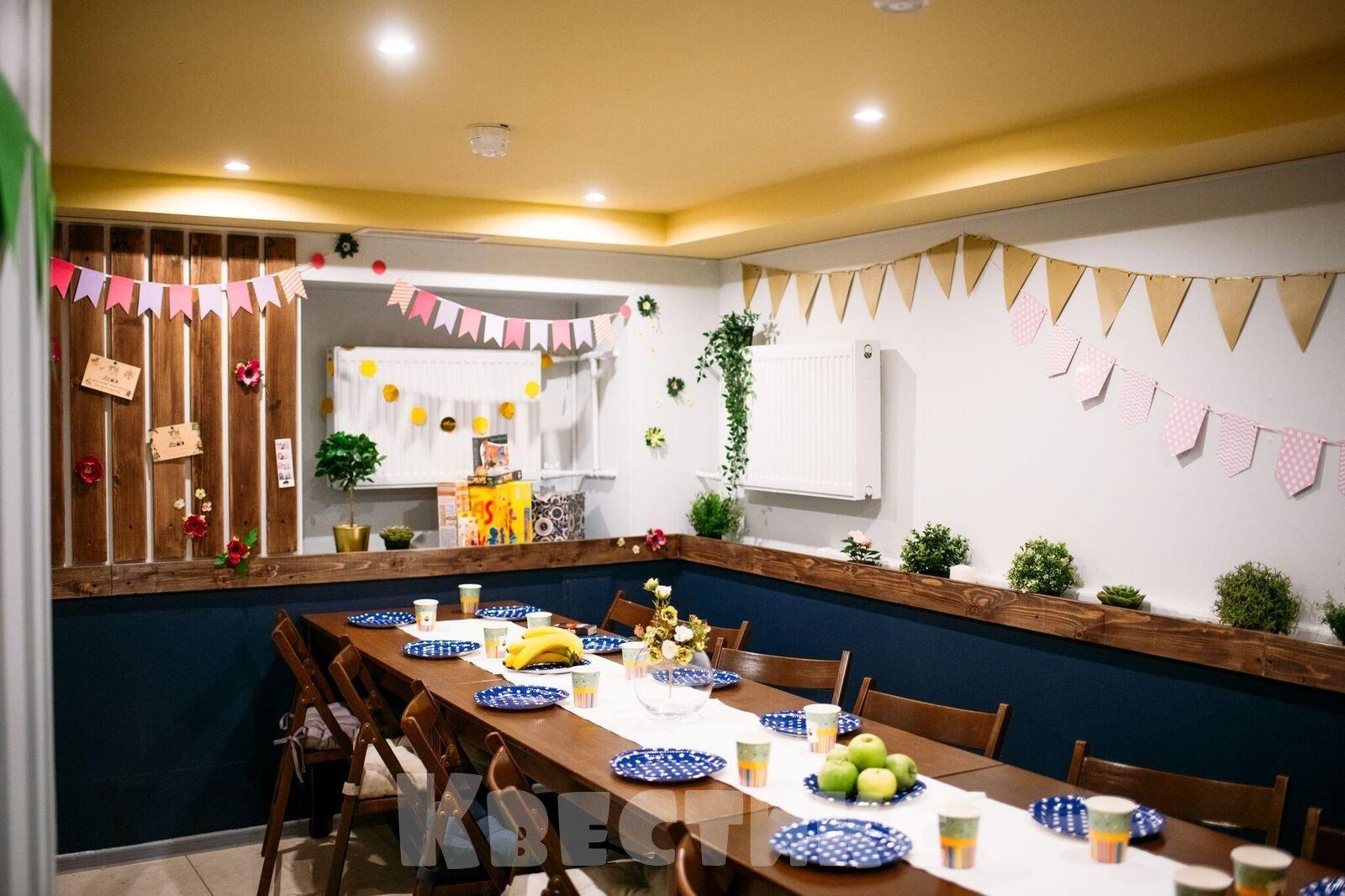 Аренда комнаты для празднования дня рождения ребёнка в Санкт-Петербурге