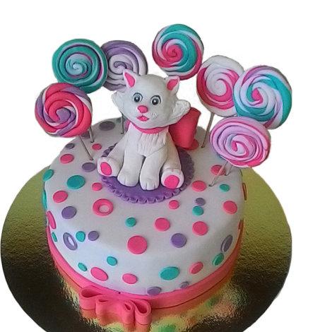 Торт с кошкой