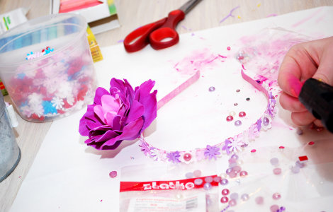 Цветы из фоамирана (6+)